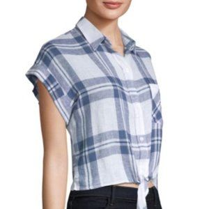 Rails Amelie Front-Tie Plaid Shirt
